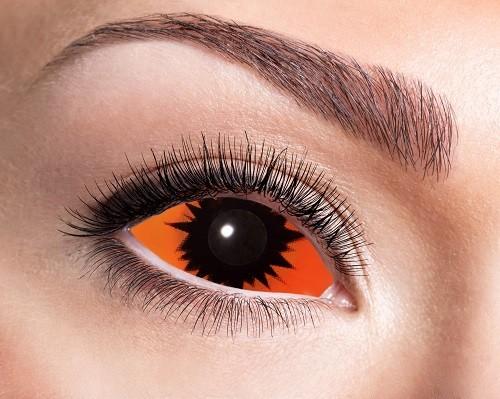 Eyecatcher Sclera 6 Monatslinsen Orange Demon