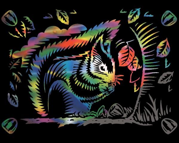 Reeves Gravurfolien Regenbogen Eichhörnchen