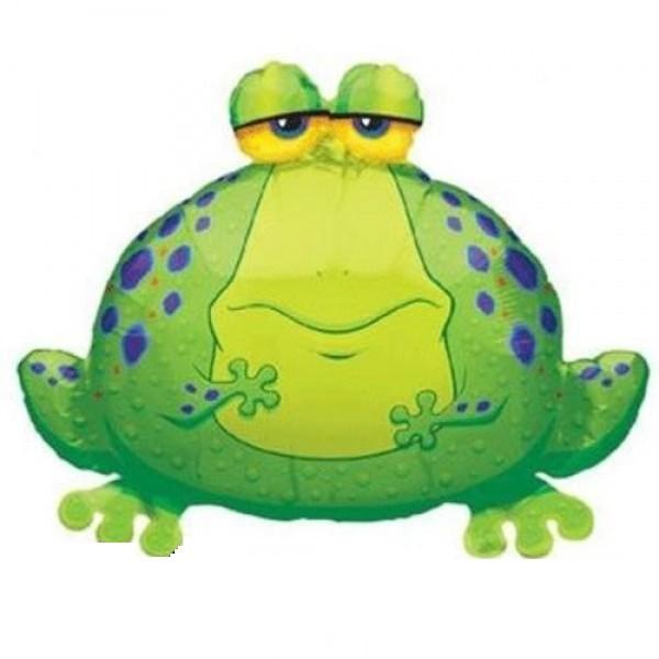 grüner Frosch Folienballon - 77cm