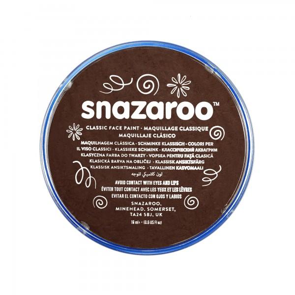 Snazaroo Schminkfarbe Dunkelbraun 18 ml