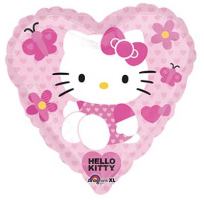 Hello Kitty Folienballon Herz Love