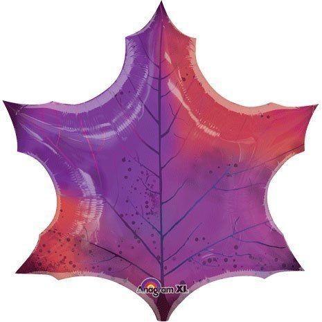 Folienballon Large Shape Purple Maple Lead - 60 cm