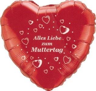 Alles Liebe zum Muttertag Herz - 45cm
