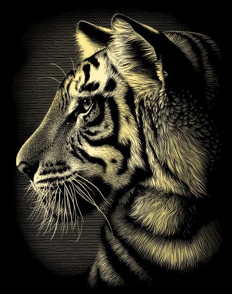 Reeves Gravurfolien Gold Tiger
