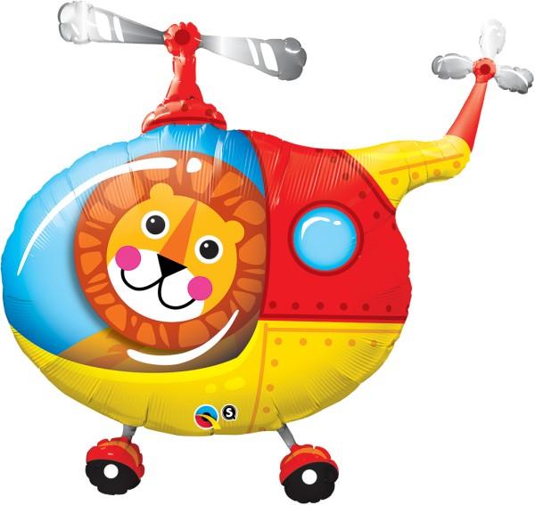 Löwe Hubschrauber Folienballon
