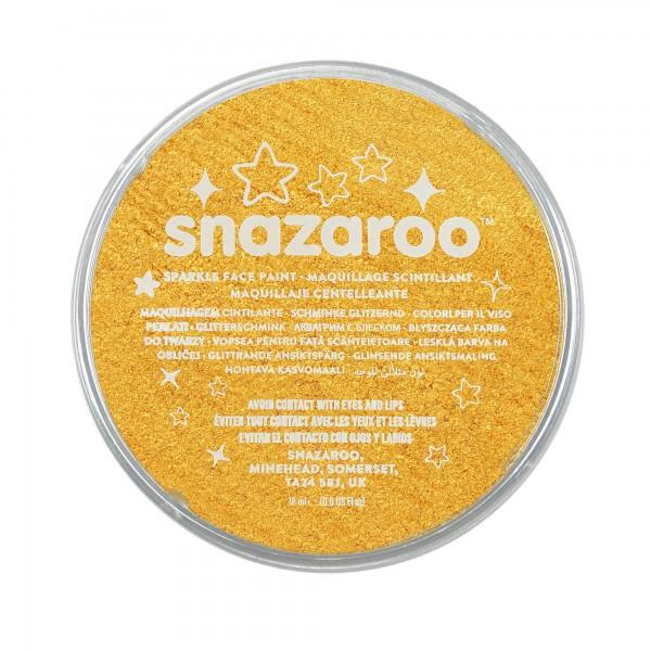 Snazaroo Schminkfarbe Schimmernd Gelb 18 ml
