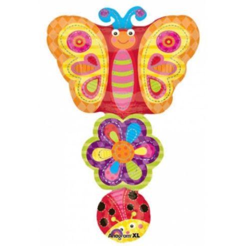 Schmetterling Kette Folienballon - 93cm