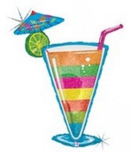 Cocktail Tropical Folienballon - 116cm
