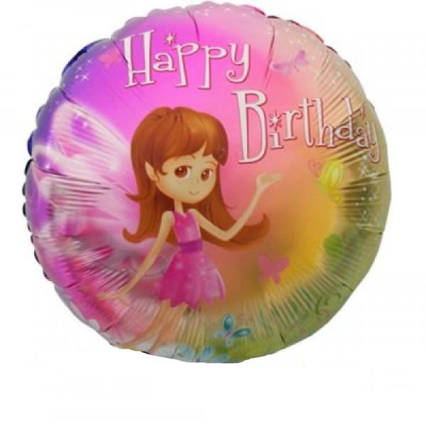 Happy Birthday Kleine Fee Folienballon - 45cm