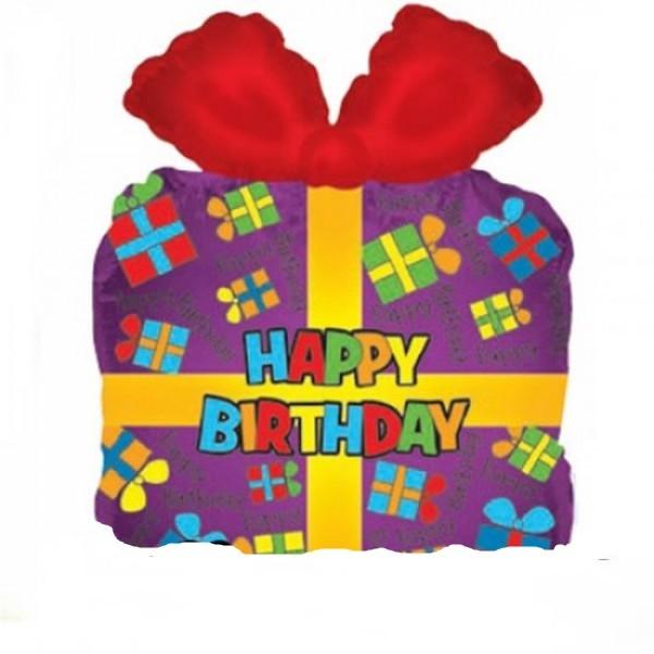 Happy Birthday Geschenk Folienballon - 56cm
