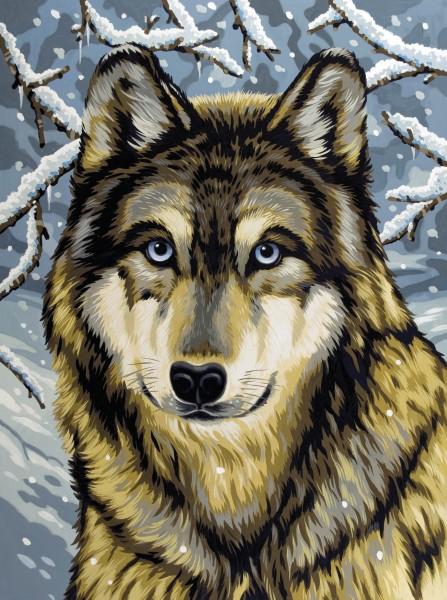 Reeves Junior Malen nach Zahlen Wolf