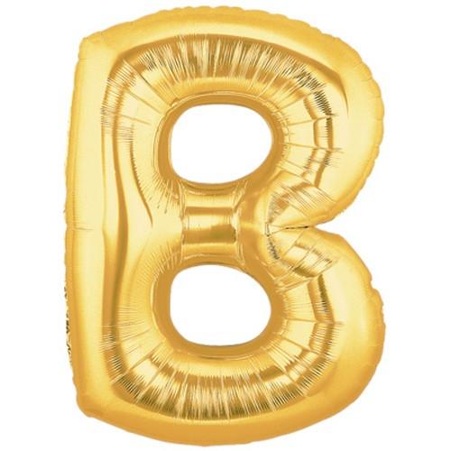 Buchstaben B gold Folienballon