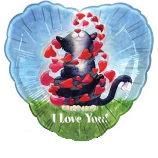 Kitty I Love you Herz Folienballon - 45cm