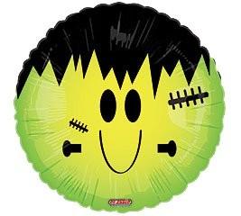 Folienballon Smiley Frankenstein - 45cm