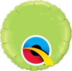 Mini Folienballon rund Lime Green