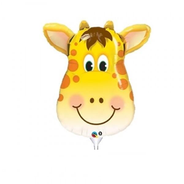 Mini Folienballon Giraffen Kopf - 35cm