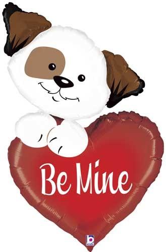 Be mine Puppy / Liebe Folienballon
