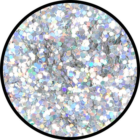 2 g Holographischer Streu Glitzer Silber Juwel Grob