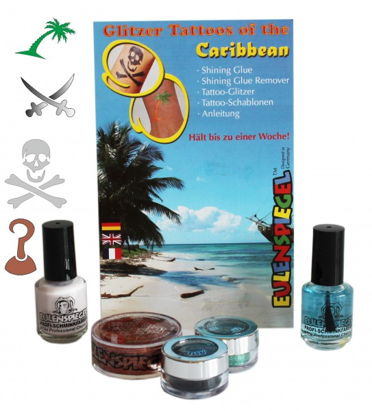 Tattoo Glitzer Set Tattoos of the Caribbean Eulenspiegel