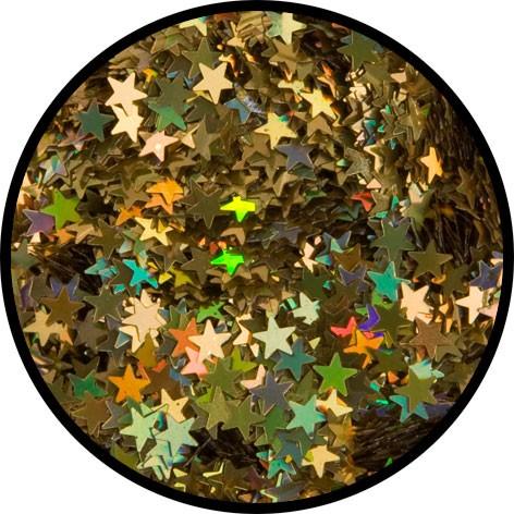 """6 g Holographischer Streu Glitzer """"Gold Sterne"""""""