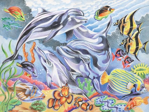 Reeves Malen nach Zahlen mit Buntstiften Unter Wasser