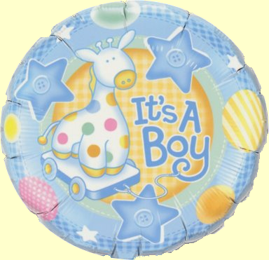 Mini Folienballon Its A Boy Giraffe - 22,5cm