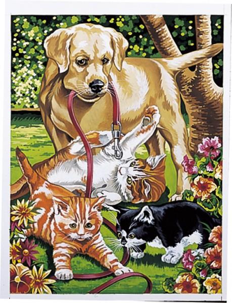 Reeves Junior Malen nach Zahlen Hund und Katzen