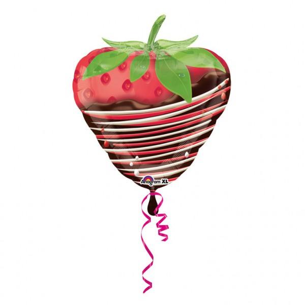 Erdbeere in Schokolade Folienballon - 48cm