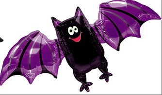 Fledermaus Halloween Folienballon