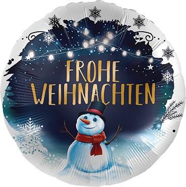 Frohe Weihnachten Schneemann Folienballon