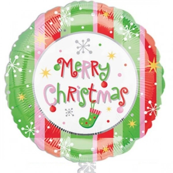 Merry Christmas Folienballon - 61 x 137 cm