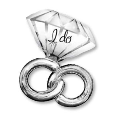Hochzeit Ring I do Folienballon - 76cm