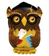 Wise Old Grad Owl Graduation Folienballon - 71 cm
