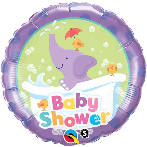 Baby Elefant nimmt ein Bad Folienballon - 46cm