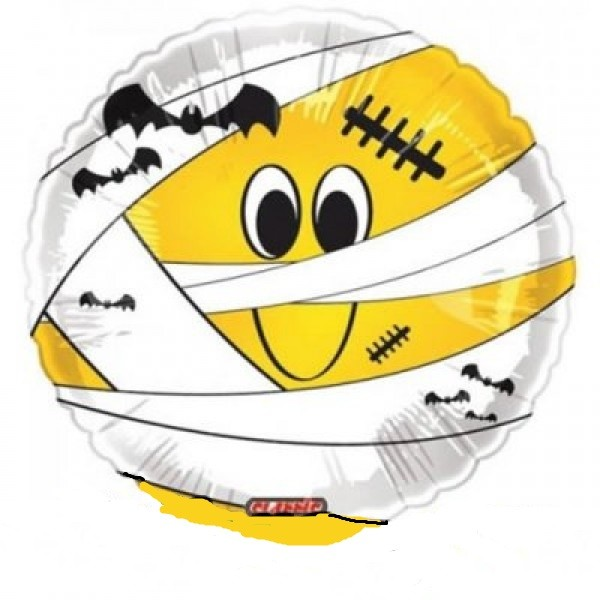 Smiley Mumie Halloween Folienballon - 45cm
