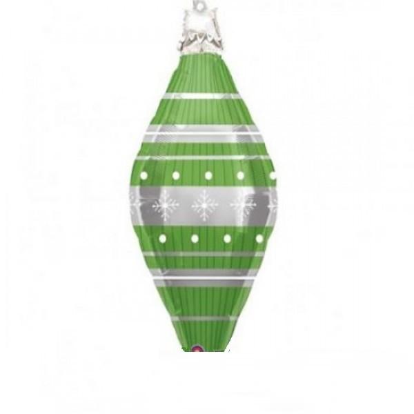 ovale Weihnachtskugel Folienballon - ca 94 cm