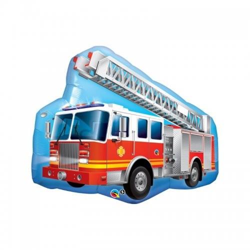 Feuerwehr Auto Folienballon - 91cm