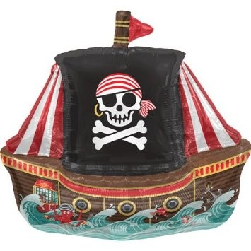 Mini Folienballon Piratenschiff - 35cm