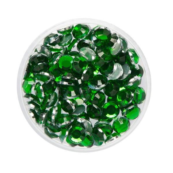Eulenspiegel Glitzer-Steine Smaragd