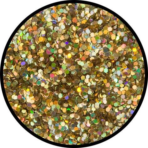 6 g Holographischer Streu Glitzer Gold Juwel Grob