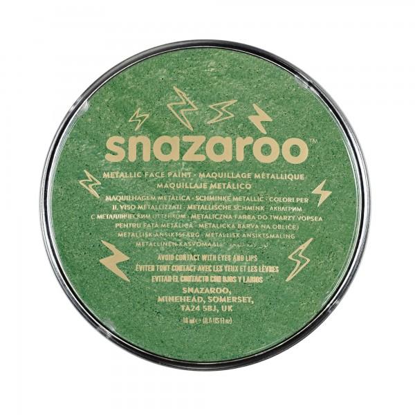 Snazaroo Schminkfarbe Metallic Elektrischgrün 18 ml