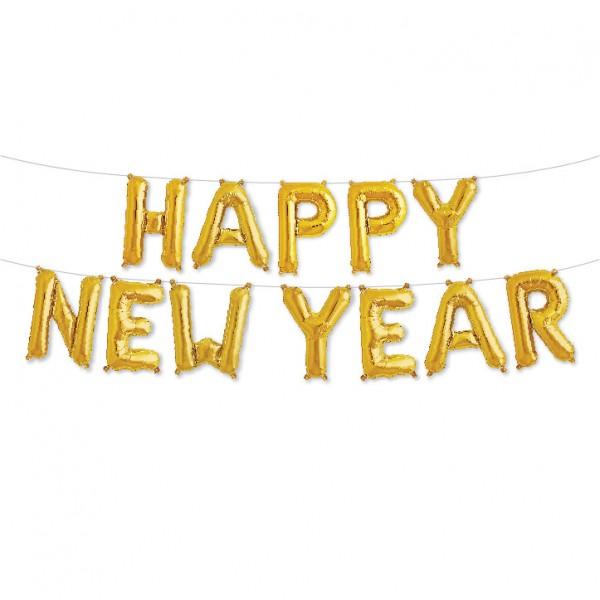 Buchstaben Folienballon Set gold HAPPY NEW YEAR 40cm