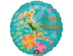 Mini Folienballon Tinkerbell Birthday - 23cm