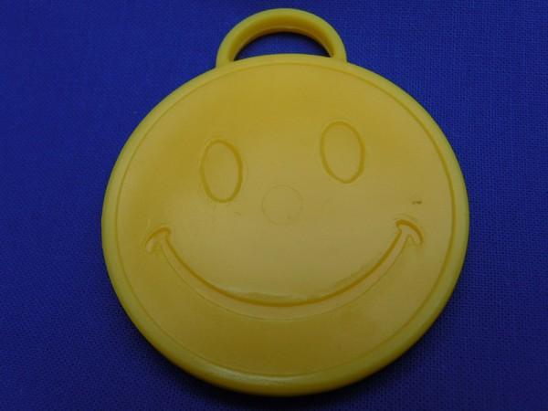Luftballon Gewicht Smiley rund in gelb