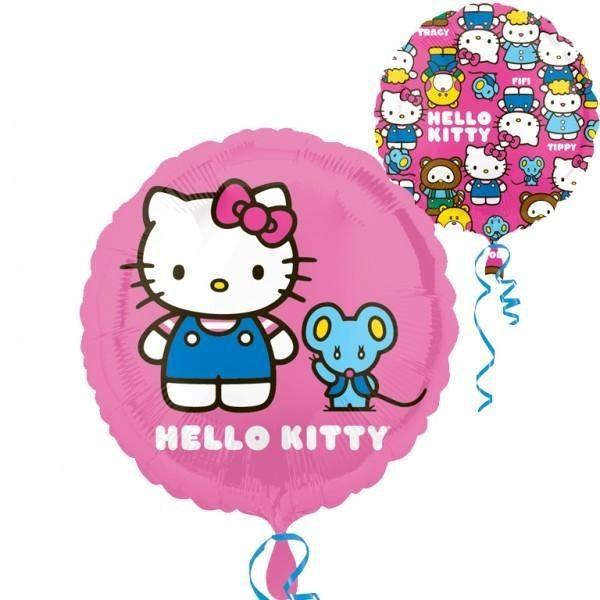 Hello Kitty and mouse Folienballon rund