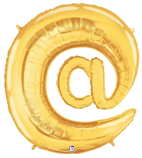 """AT"" Symbol @ Gold Folienballon"