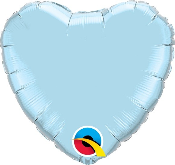 Mini Folienballon Herz hellblau