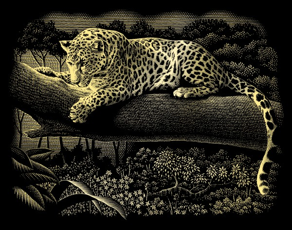 Reeves Gravurfolien Gold Leopard