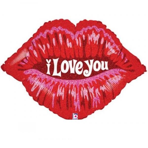 I love you Lippen / Mund Folienballon - 91 cm
