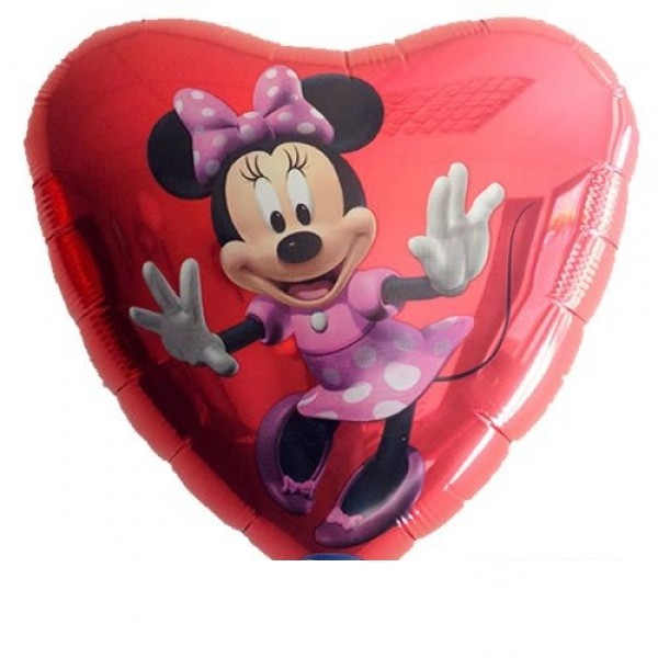 Minnie Maus Herz Folienballon - 45cm
